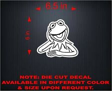 Vinyl Decal Sticker Car, Window, Wall... Kermit the Frog. Rana Rene. 6""