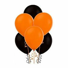 "15Pcs of 12"" Balloons Black and Orange Assorted Colour all Occasions Decorations"