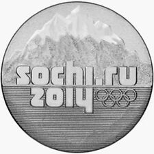 Russia Sochi 2014 25 rubli Montagne roubles Mountains