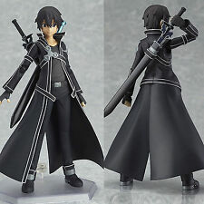 "6"" SAO Sword Art Online Kirigaya Kazuto Kirito Action Figure PVC Figurine In Box"