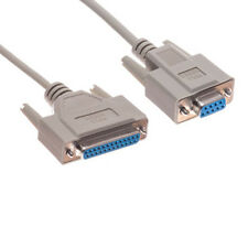 6Ft RS232 D-Sub DB9 Female to DB25 Female NULL Crossover Serial Data/Modem Cable
