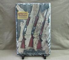Vintage Remington Model 760, 742 & 725 Rifles on Slate Stone Plaque with Stand