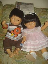 Lot of 2 REAL Berenguer/Berjusa Asian/Oriental baby dolls Discontinued HTF+1 COA