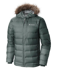 Columbia Men Winter Hooded OMNI-HEAT 700 Power Fill Down Jacket  M New