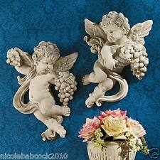 ITALIAN BAROQUE ERA ANGELIC CHERUBS OF AUTUMN RELIGIOUS FIGURINE WALL HOME DECOR