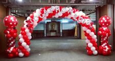 Make UR own Balloon Arch Kit For Birthday party Celebrations Marriages RED white