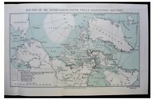 1926 Rasmussen - FIFTH THULE EXPEDITION - Eskimos - COLOR MAP - Photos - 2