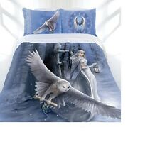 ANNE STOKES - MIDNIGHT MESSENGER Double bed quilt/doona cover set