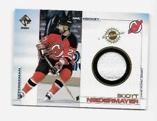 SCOTT NIEDERMAYER 2001 PACIFIC PRIVATE STOCK GAME USED PATCH ~ HOF