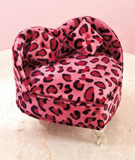Animal Print Heart Shaped Jewelry Box Storage Organizer Pink Leopard NEW