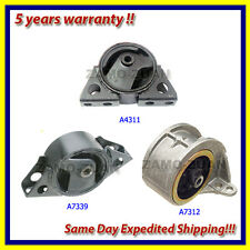 Engine Motor Mount Kit 3PCS for 1999-2002 Infiniti G20 A4311 A7312 A7339