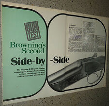 1974 BROWNING Second Side-by-Side B-SS SHOTGUN Evaluation ARTICLE w/specs