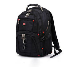 "Men's Swiss Army Laptop Bag Backpack 16"" Travel Casual Business Schoolbag New"