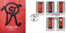 Gibraltar 2016 FDC Pillar Boxes 5v Set Cover Post Boxes Stamps