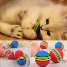 Mini Pet Rainbow Ball Cat Dog Puppy Pet Chew Play Toys Foam Training Ball Game