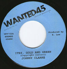 "JOHNNY CLARKE - ITES GREEN AND GOLD (7"" ROOTS) TUBBYS!!!!"