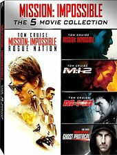 MISSION IMPOSSIBLE 5 MOVIE COLLECTION (5 DVD) con TOM CRUISE