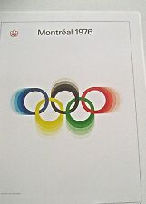 Olympic Games 1976 Montreal  Canada -Official Poster Reprint 16x12 Offset Litho