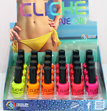 LOT OF 6 COLORS new Fluorescent Neon colors Nail Art Polish pink yellow 2016