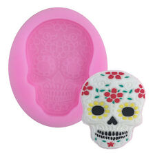 Cool Skull Shape Silicone Fondant Mold Chocolate Mold for Cake Decorations Tool