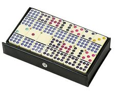 Dominoes Double 9 Nine Color Dot Ivory Tile Standard Size Set of 55 New