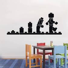 LEGO EVOLUTION Kids Wall Decal Sticker Quote DIY Vinyl Home Decor Words Letters