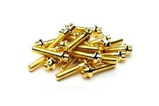 140x Gold Split Rim Bolts M7 x 32mm BBS RS OZ Wheels High Tensile Steel Screws