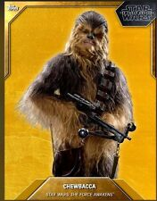 TOPPS STAR WARS CARD TRADER - GOLD CHEWBACCA TFA CHEWY FORCE AWAKENS SERIES 3