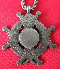 Antique 1847 James Allen Birmingham Sterling Silver Honor and Recognition Cross