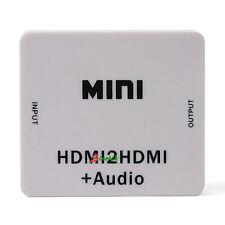 NEW Mini HDMI2HDMI + Audio HDMI to HDMI HD Converter Box Adapter Extractor 1080P