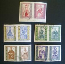 POLAND-STAMPS Fi1012-21A SC888-97 Mi1156-65B - Polish folk costumes, 1960