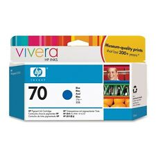 HP 70 Blue Ink C9458A For HP Designjet Z3100 130ml 2012 Genuine HP Boxed