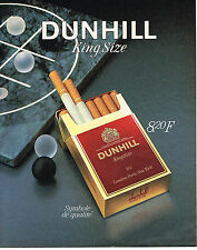 PUBLICITE ADVERTISING 114  1986  DUNHILL  cigarettes