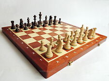 BRAND NEW MADON TOURNAMENT NR 6 WOODEN CHESS SET 53cm WITH WEIGHTED PIECES