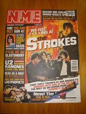 NME 2001 MAR 2 SUM 41 STROKES OASIS U2 LOSTPROPHETS