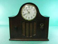 UABC RCA CATHEDRAL 3 TUBE RADIO INGRAHAM United American Bosch CLOCK  ART DECO