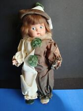 VINTAGE 1940s GINNY CLOWN DOLL- PAINTED EYE STRUNG  PLASTIC