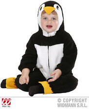 Fuzzy Penguin Baby Fancy Dress Costume 0-6 Months Childrens Outfit