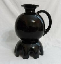 FRANKOMA ALL BLACK OPEN CARAFE & CHINA WARMER STAND #82W - WONDERFUL CONDITION!