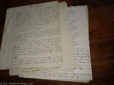 1855.Manuscrit autographe (Vendée Grimaud).Guillaume Lejean (Bretagne Afrique)