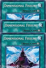 Dimensional Fissure X 3 Secret Rare RYMP Mint  English YU-GI-HI! Cards