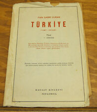 "c.1950s Map of TURKEY, With Full Index, 19x33.5"" Size, in COLOR"