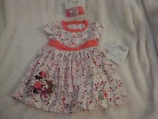 Disney Baby Minnie Mouse Toddler Dress and Headband Size 12-18m