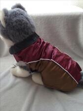 Manteau imperméable doublé polaire pour chien taille 40 cm -Bordeaux brun -Neuf