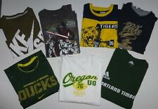 Lot of 7 Shirts T-Shirt Boys Youth M L 8 10 Star Wars Ducks Timbers Nike Tigers
