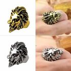Stainless Steel Nice Lion's Head Ring Men's Vintage Cool Ring American Size 8-10