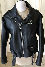 SCHOTT NYC DUR O JAC  Mens Leather Motorcycle Jacket 1980's Made USA Size 2XL
