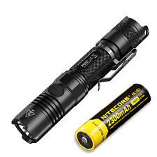 Bundle: Nitecore P12GT Flashlight CREE XP-L HI V3 LED -1000Lm w/ NL183 Battery