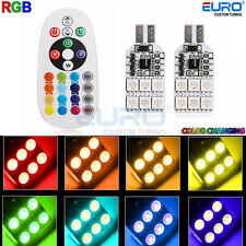 RGB 12Color-change LED T10 168 194 2825 12SMD Map/Dome Interior Lights w/Remote