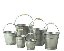28cm Zinc Bucket/Metal/Tin/Container/Storage/Flower Pot/Planter/Home/Garden